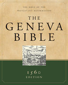 Geneva Bible, the 1560 Edition Black Genuine Leather