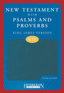 KJV New Testament With Psalms and Proverbs Blue