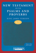 KJV New Testament With Psalms and Proverbs Magnetic Flap Blue Imitation Leather