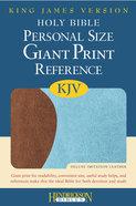 KJV Personal Size Giant Print Reference Bible Blue/Chocolate Flexisoft Imitation Leather