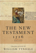 Tyndale New Testament 1526 Edition, the Black Genuine Leather