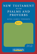 KJV New Testament With Psalms and Proverbs With Magnetic Flap Green Imitation Leather