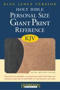 KJV Personal Size Giant Print Reference Bible Black/ Tan Red Letter Edition Imitation Leather