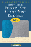 KJV Personal Size Giant Print Reference Bible Blue/ Gray Red Letter Edition Imitation Leather