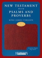 KJV Personal Size Giant Print Reference Bible Blue/ Green Red Letter Edition Imitation Leather