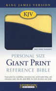 KJV Blueberry/Lemon Personal Size Giant Print Reference Bible Imitation Leather