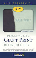 KJV Chocolate/Mint Personal Size Giant Print Reference Bible Imitation Leather