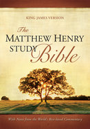 KJV Matthew Henry Study Bible Indexed Mahogany/Brown Imitation Leather