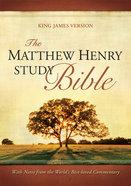 KJV Matthew Henry Study Bible Indexed Black Imitation Leather