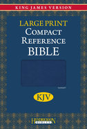 KJV Hendrickson Compact Reference Large Print Blue Flexisoft Imitation Leather