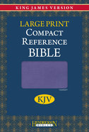 KJV Hendrickson Compact Reference Large Print Lilac Flexisoft Imitation Leather