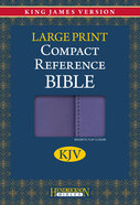 KJV Hendrickson Compact Reference Large Print Lilac With Magnetic Flap Closure Imitation Leather