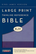 KJV Large Print Thinline Reference Bible Violet/Lilac Imitation Leather