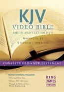 KJV Video Bible Narrated By Stephen Johnston (Audio And Text On DVD Voice Only) DVD
