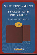 KJV New Testament With Psalms and Proverbs Magnetic Flap Espresso