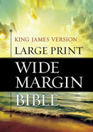 KJV Large Print Wide Margin Bible Hardback
