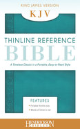 KJV Thinline Reference Bible Aqua (Red Letter Edition) Imitation Leather