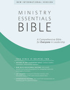 NIV Ministry Essentials Indexed Black Bible Genuine Leather