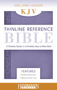 KJV Thinline Reference Bible Lilac Imitation Leather