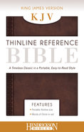 KJV Thinline Reference Bible Chestnut Brown Imitation Leather