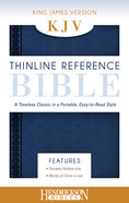 KJV Thinline Reference Bible Midnight Blue Imitation Leather