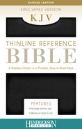 KJV Thinline Reference Bible Black Imitation Leather