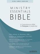 KJV Ministry Essentials Bible Black Indexed Genuine Leather