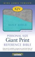 KJV Personal Size Giant Print Reference Bible Turquoise/Grey Flexisoft Imitation Leather