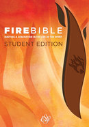 ESV Fire Bible Student Edition Brick Red/Plum Flexisoft Imitation Leather