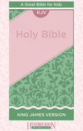 KJV Kids Bible Pink/Green Flexisoft Imitation Leather
