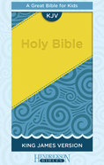 KJV Kids Bible Blue/Yellow Flexisoft Imitation Leather