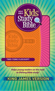 KJV Kids Study Bible Orange/Pink Flexisoft Imitation Leather