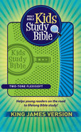 KJV Kids Study Bible Green/Blue Flexisoft Imitation Leather