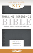 KJV Thinline Reference Bible Steel Gray Imitation Leather