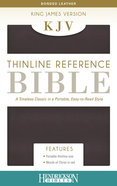 KJV Thinline Bible Burgundy Bonded Leather