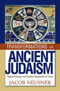 Transformations in Ancient Judaism Paperback