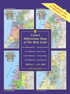 Carta's Millennium Maps of the Holy Land Chart/card