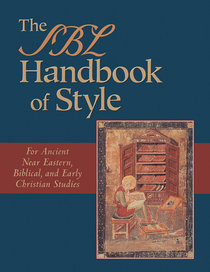 The Sbl Handbook of Style