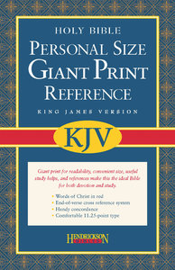 KJV Personal Size Giant Print Reference Burgundy (Red Letter Edition)