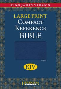 KJV Hendrickson Compact Reference Large Print Blue Flexisoft