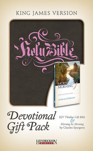 KJV Devotional Gift Pack Brown With Pink Stamping