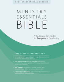 NIV Ministry Essentials Indexed Black Bible