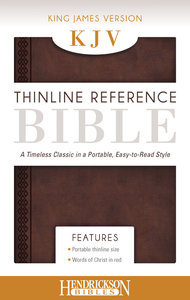 KJV Thinline Reference Bible Chestnut Brown