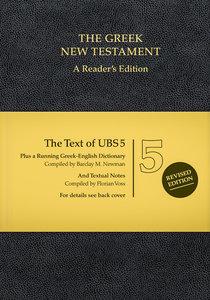 Ubs5 Greek New Testament: A Readers Edition Black