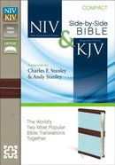 Niv/Kjv Side By Side Bible Compact Chocolate/Turquoise (Black Letter Edition) Premium Imitation Leather