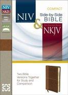 Niv/Nkjv Side-By-Side Bible Compact Caramel/Dark Caramel (Black Letter Edition)