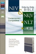 NIV & NKJV Side-By-Side/Comparative NLT & the Mesage Gray/Slate Blue Imitation Leather