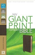 NIV Compact Giant Print Bible Brown (Black Letter Edition) Genuine Leather