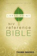 NIV Reference Bible Large Print Indexed (Red Letter Edition)