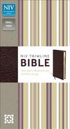 NIV Trimline Bible Burgundy (Red Letter Edition) Bonded Leather